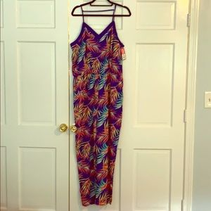 NWT Xhilaration Tropical Print Jumpsuit - XL